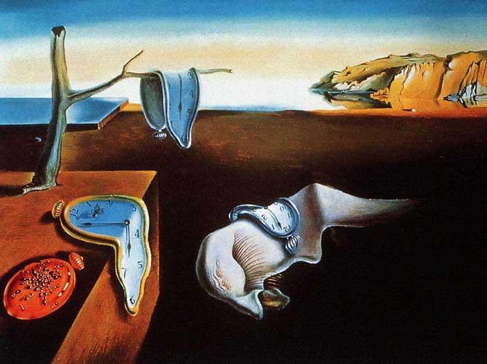 Salvador Dalí - La persistenza della memoria. Sulla elasticità del tempo.